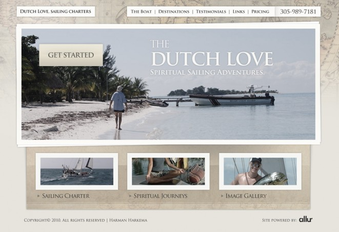 Dutch Love landing page design.