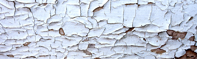 Flaking White Paint