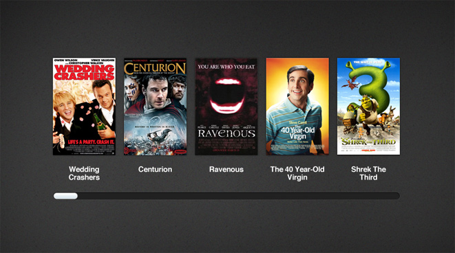 Free iTunes inspired movie cover slider PSD.