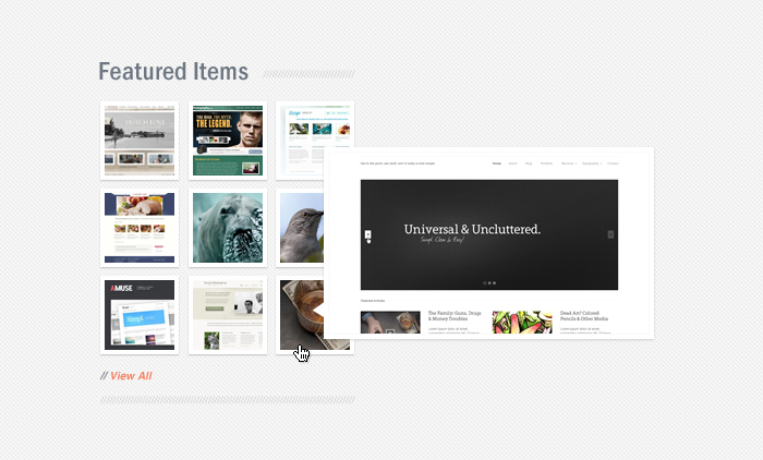 Wicked jQuery Preview Pop-Up PSD