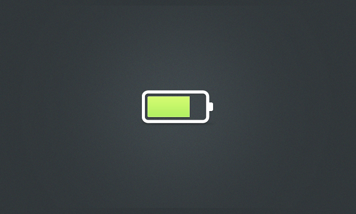 Simple Little Battery Icon PSD
