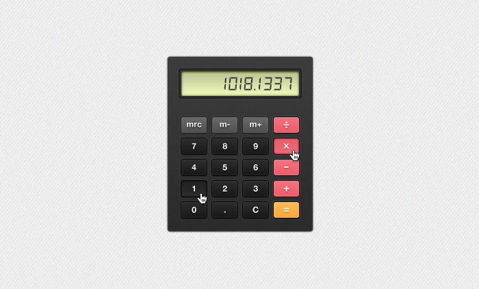 Simple Calculator PSD for PremiumPixels