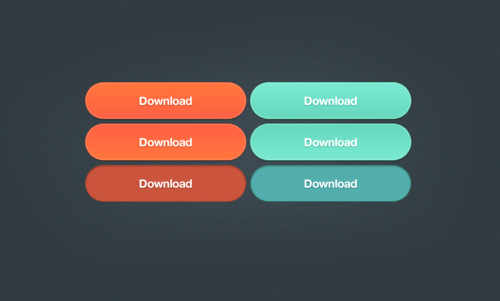 Large Punchy Download Buttons PSD